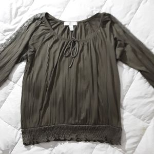 French Laundry Womens Long Sleeve Blouse